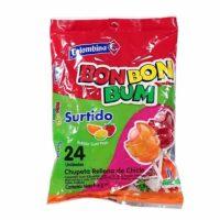 Bon Bon Bum Surtido 24 Chupetas